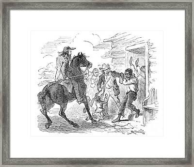 Runaway Captured, Fugitive Slave Law Framed Print