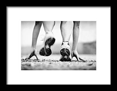 Runner Framed Prints
