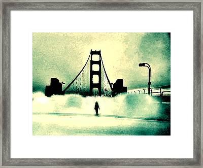 Runnin' Away Gotta Get Outta This Town Framed Print by Lisa McKinney