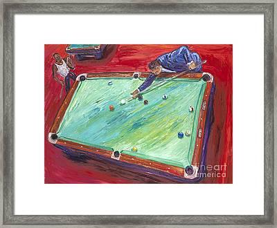 Runnin' The Table Framed Print by Arthur Robins