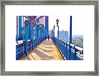 Running Across The Ben Framed Print by Bill Cannon