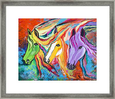 Running Against The Wind Framed Print by Janice Rae Pariza