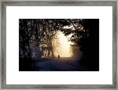 Running At Sunrise - Valley Forge Framed Print by Bill Cannon