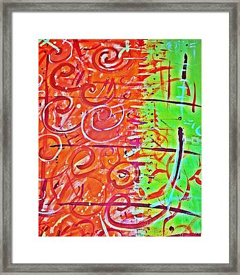 Running Circles 'round The Sun Framed Print by Yshua The Painter