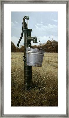 Running Dry Framed Print