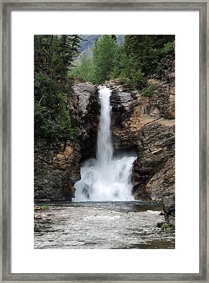 Running Eagle Falls, Glacier National Framed Print