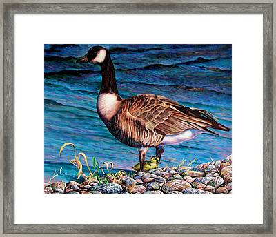 Framed Print featuring the painting Running For Cover by Craig T Burgwardt
