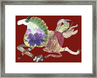 Running Free Framed Print by Doveen Schecter