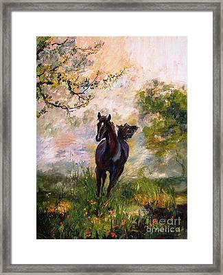 Running Free Horse Painting Framed Print