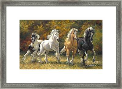 Running Free Framed Print by Laurie Hein