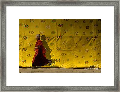 Framed Print featuring the digital art Running Home by Angelika Drake