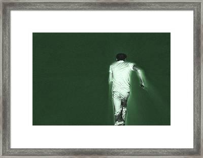 Running In The Green Framed Print