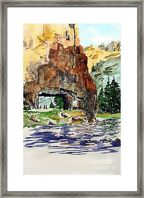 Running In The Poudre Canyon Framed Print by Tom Riggs