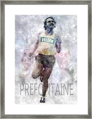 Running Legend Steve Prefontaine Framed Print by Daniel Hagerman