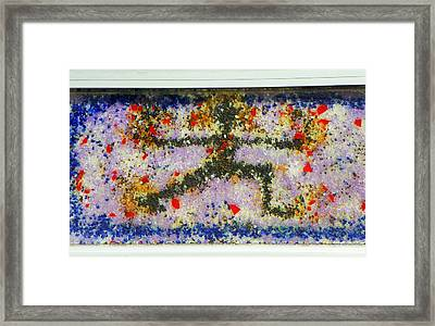 Running Man Framed Print by Lenore Senior