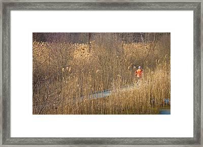 Running Man Framed Print by Richie Stewart