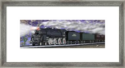 Running On Time Panoramic Framed Print by Mike McGlothlen