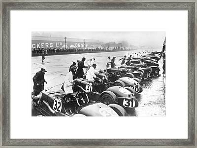 Running Race Start Framed Print by Underwood Archives