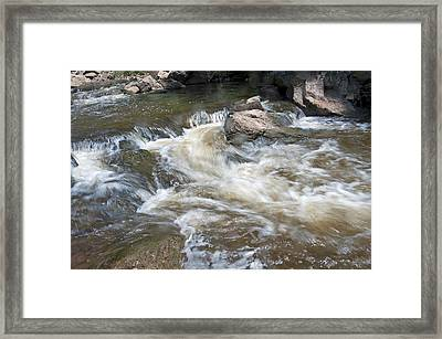 Framed Print featuring the photograph Running River by Marek Poplawski