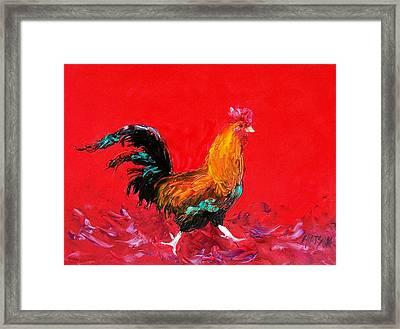Little Brown Rooster  Framed Print