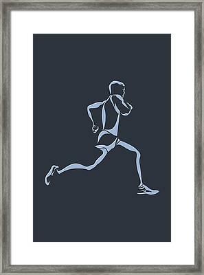 Running Runner12 Framed Print by Joe Hamilton