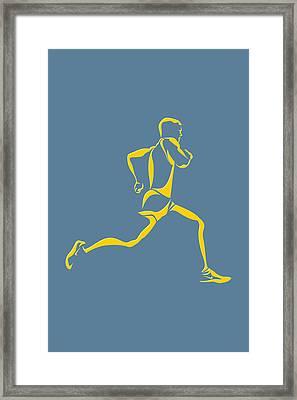 Running Runner13 Framed Print by Joe Hamilton