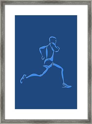 Running Runner15 Framed Print by Joe Hamilton