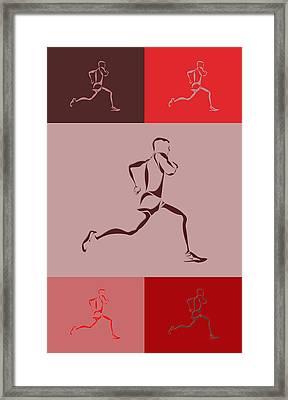 Running Runner4 Framed Print