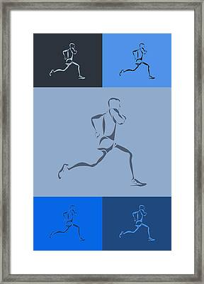 Running Runner5 Framed Print by Joe Hamilton
