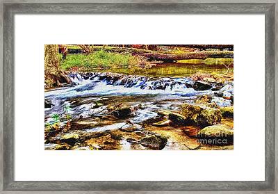 Running Stream In Yosemite National Park Framed Print by Bob and Nadine Johnston