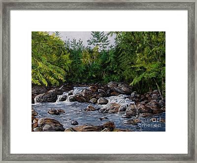 Running Stream Framed Print by Nancie Johnson