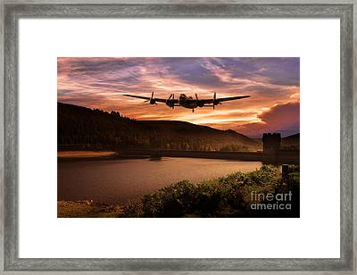 Running The Dam  Framed Print