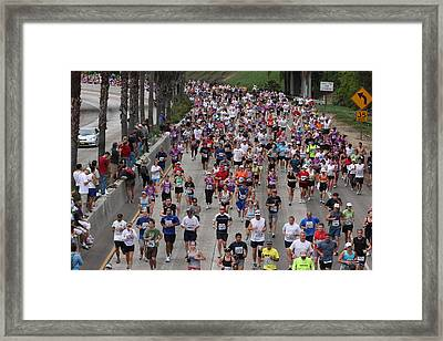 Framed Print featuring the photograph Running The Marathon by Nathan Rupert