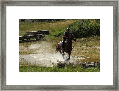 Running Thru Water  Framed Print