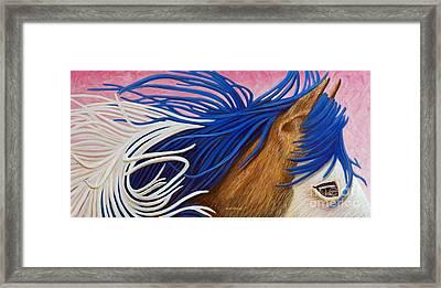 Running Thunder Framed Print by Brian  Commerford