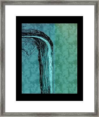 Running Water Framed Print by Steve Godleski
