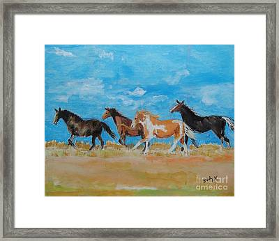 Framed Print featuring the painting Running Wild by Judy Kay