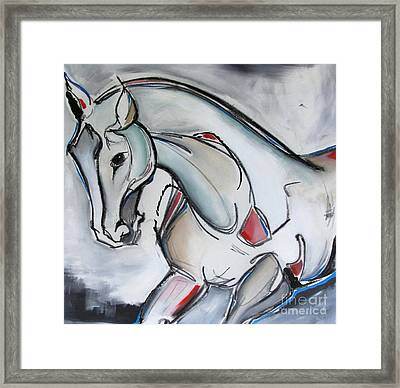 Framed Print featuring the painting Running Wild by Nicole Gaitan