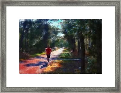 Running Framed Print