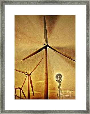Running With The Big Boys Framed Print