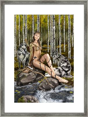 Running With The Pack Framed Print