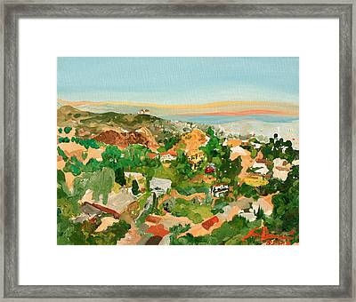Runyon Canyon Framed Print by Joseph Demaree