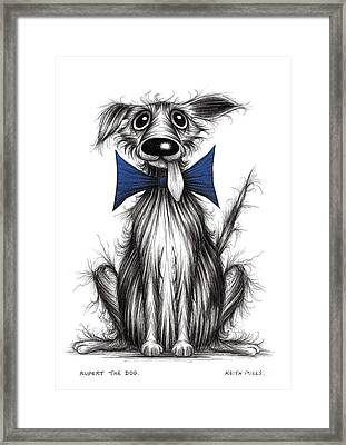Rupert The Dog Framed Print by Keith Mills