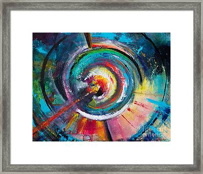 Ruptured Core Framed Print by Robin Kirkpatrick