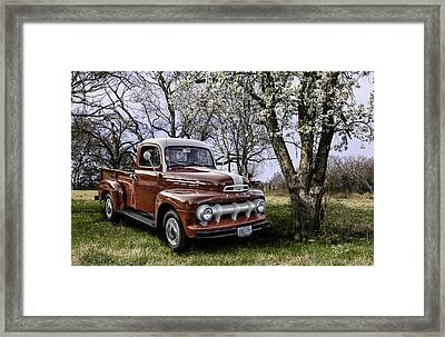 Rural 1952 Ford Pickup Framed Print