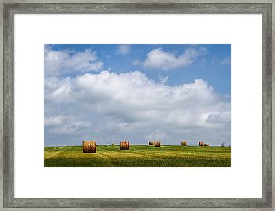 Rural America - A View From Kansas Country Roads Framed Print