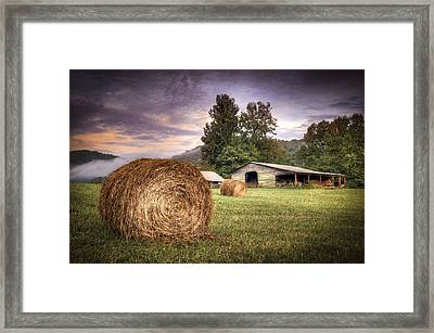 Rural American Farm Framed Print