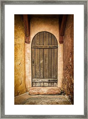 Rural Arch Door Framed Print by Carlos Caetano