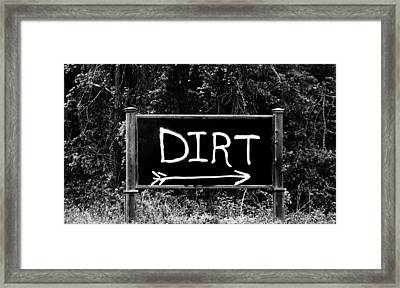 Rural Area Sign Framed Print by Cynthia Guinn