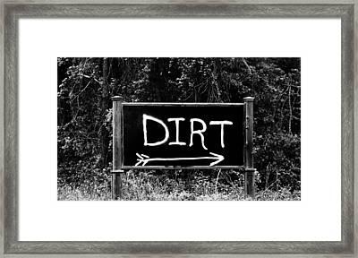 Rural Area Sign Framed Print by Cynthia Guinn